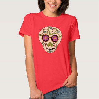 Round Sugar Skull T-Shirt