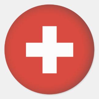 Round Switzerland Classic Round Sticker