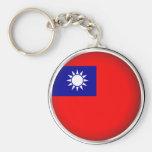 Round Taiwan Keychain