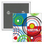 Round Target Pattern Vartali Square Button