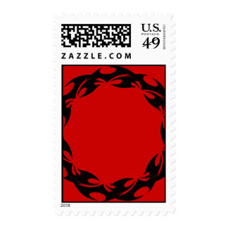 ROUND TATTOO FLAMES 011 GRAPHIC DESIGNS LOGO ICON POSTAGE STAMPS