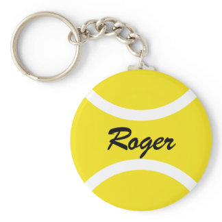 Round tennis ball keychain | Personalizable name