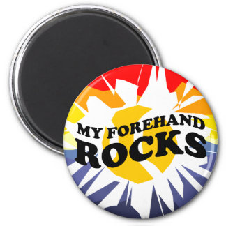 Round Tennis Magnets - with tennis ball design