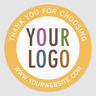 misook Round Thank You Stickers Business Logo Promotional