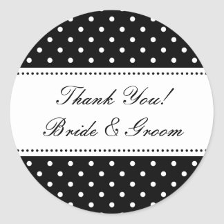 Round Thank you stickers for wedding favors