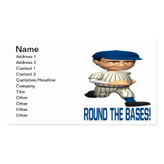 Round The Bases Business Card Template