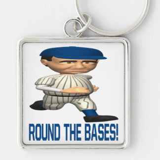 Round The Bases Keychain