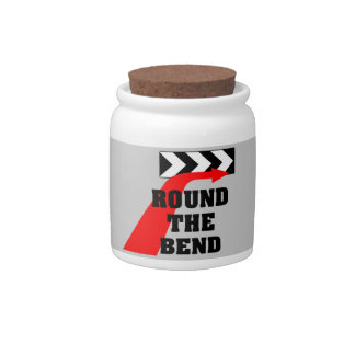 Round The Bend Candy Jar