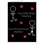 Round the Bend Valentine Greeting Card