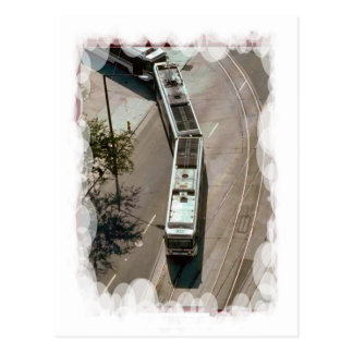 Round the bend with a tram postcard