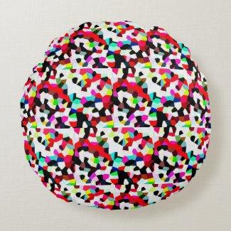 Round throw pillow