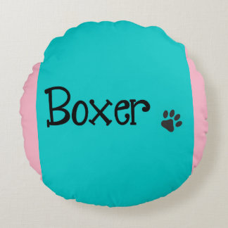 Round Throw Pillow for Boxer Lovers