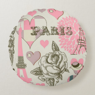 Round Throw Pillow/Paris Round Pillow