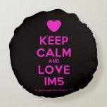 [Love heart] keep calm and love im5  Round Throw Pillow Round Pillow