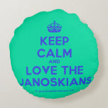 [Crown] keep calm and love the janoskians  Round Throw Pillow Round Pillow
