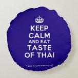 [Crown] keep calm and eat taste of thai  Round Throw Pillow Round Pillow