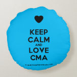 [Love heart] keep calm and love cma  Round Throw Pillow Round Pillow