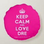 [Crown] keep calm and love dre  Round Throw Pillow Round Pillow
