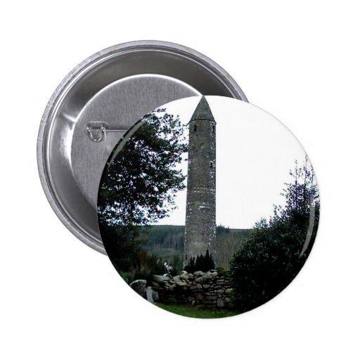 Round Tower,Glendalough,Co.Wicklow,Ireland Pinback Button
