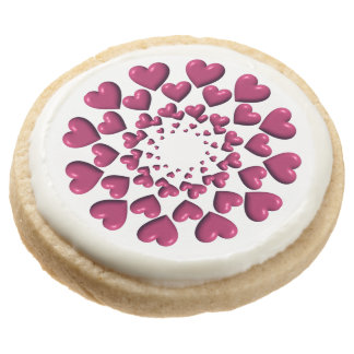 Round Trailing Hearts-Plum-SHORTBREAD COOKIES