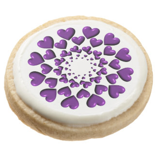 Round Trailing Hearts-Purple-SHORTBREAD COOKIES