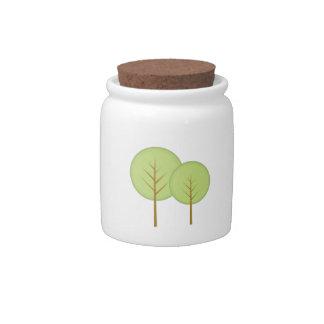 Round Trees Candy Jar