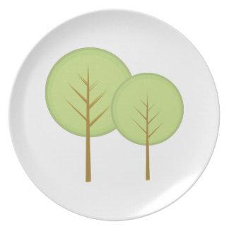 Round Trees Dinner Plates
