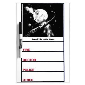 Round Trip To The Moon Dry-Erase Board