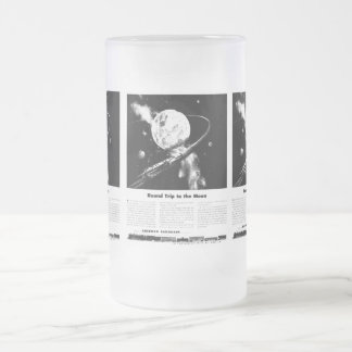 Round Trip To The Moon Frosted Glass Beer Mug