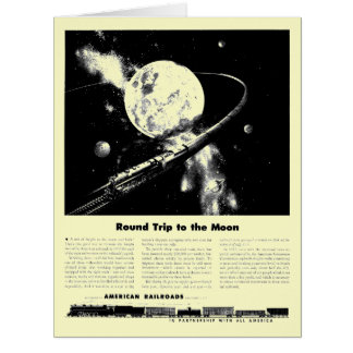 Round Trip To The Moon Greeting Cards
