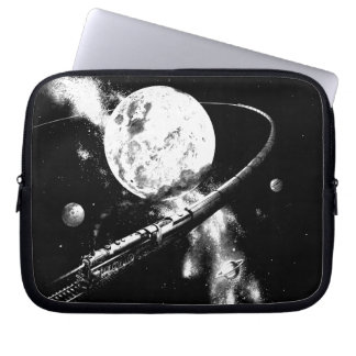 Round Trip To The Moon Laptop Sleeves