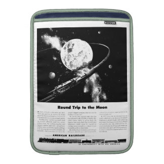 Round Trip To The Moon MacBook Sleeve
