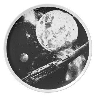 Round Trip To The Moon Party Plate