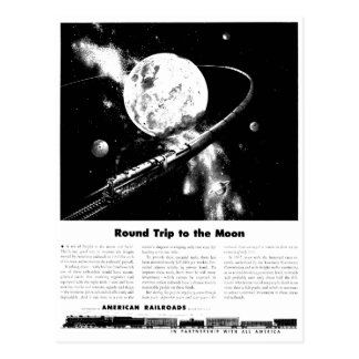 Round Trip To The Moon Post Cards