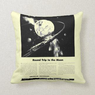 Round Trip To The Moon Throw Pillows