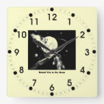 Round Trip To The Moon Wall Clock