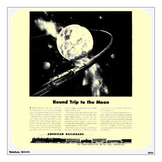 Round Trip To The Moon Wall Sticker