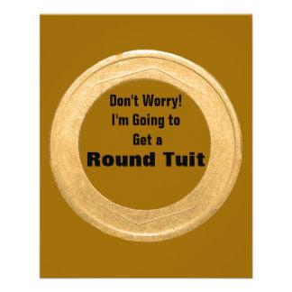 Round Tuit - Bronze Color Flyers