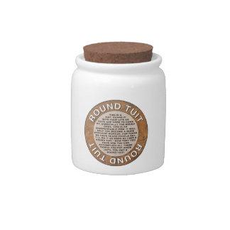 Round Tuit Candy Jar
