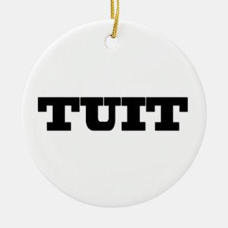 Round Tuit Ceramic Ornament