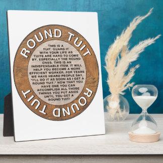 Round Tuit Plaque