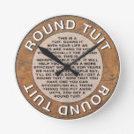 Round Tuit Round Wallclock