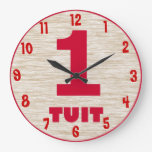 Round Tuit Wall Clock - Customized