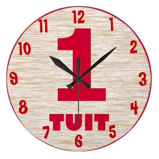 Round Tuit Wall Clock - Customized