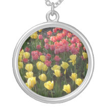 Round Tulip Pendant Necklace