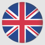 Round United Kingdom Round Stickers