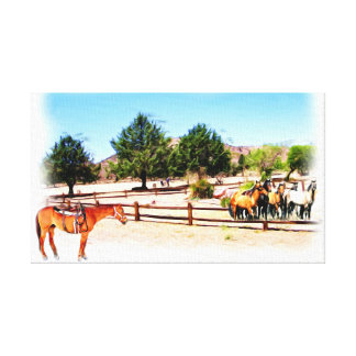 Round Up The Horses_ Canvas Print
