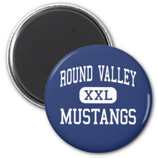 Round Valley - Mustangs - High - Covelo California 2 Inch Round Magnet