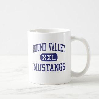 Round Valley - Mustangs - High - Covelo California Classic White Coffee Mug