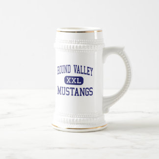 Round Valley - Mustangs - High - Covelo California 18 Oz Beer Stein